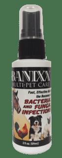 2oz Travel size Banixx Spray for all Pets!