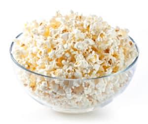 cats eating popcorn